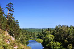 ural美丽的chusovaya本质的河 免版税库存图片