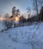 ural χειμώνας ηλιοβασιλέματος βουνών s βραδιού Στοκ εικόνες με δικαίωμα ελεύθερης χρήσης