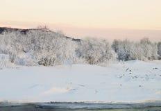 ural χειμώνας ηλιοβασιλέματος βουνών s βραδιού Στοκ φωτογραφία με δικαίωμα ελεύθερης χρήσης