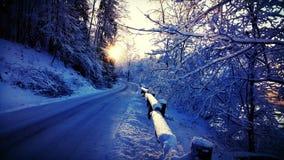 ural χειμώνας ηλιοβασιλέματος βουνών s βραδιού Στοκ Φωτογραφίες