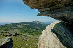 Ural berg i sommartiden royaltyfria foton