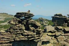 Ural berg i sommartiden royaltyfri fotografi
