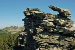 Ural berg i sommartiden royaltyfria bilder