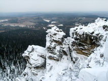 Ural berg, Polyud, Vishera, Ryssland Arkivfoto