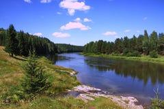 ural chusovayanaturflod Royaltyfria Bilder