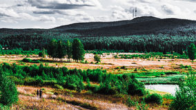 Ural landscapes. Scenic views of the expanses of the Ural depths Stock Image