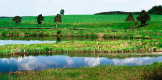 Ural landscapes. Scenic views of the expanses of the Ural depths Stock Photos