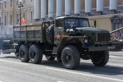 Ural military vehicle at the victory parade Stock Images