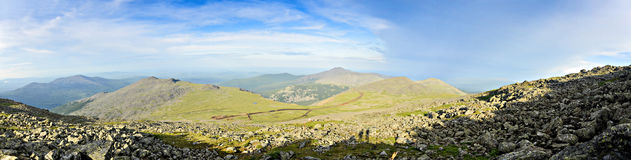 Ural Mountain. Panoramic View of the North Ural mountain Royalty Free Stock Photography