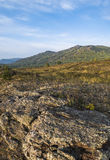 The Ural Mountains in the early fall. Stock Photo