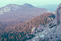 Ural mountains. Instagram filter. Royalty Free Stock Image