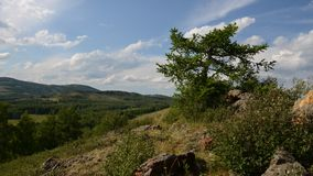 Ural Mountains. The Republic of Bashkortostan. Russia. June 18, 2014: The Ural Mountains. TimeLapse stock footage