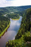 Ural nature on the river, Perm edge. Russia Stock Photos