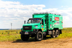 Ural Next. CHELYABINSK REGION, RUSSIA - JULY 11, 2016: Assistance truck Ural Next No. 712 takes part in the annual Rally Silkway - Dakar Series Stock Photography