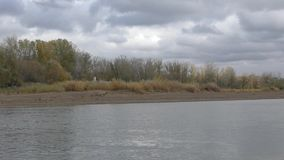 Ural River in autumn stock video footage