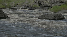 Ural river with rapid current stock video