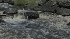 Ural river with rapid current stock footage