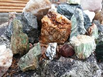 Ural semiprecious stones Stock Images