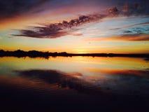 Ural-Sonnenuntergang Lizenzfreie Stockfotos