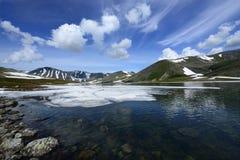 Ural subarctique, lac Patok Image stock