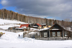 The Ural village. Stock Photo