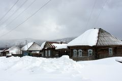 The Ural village. Stock Photography