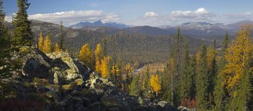 Urals jesień Obraz Royalty Free