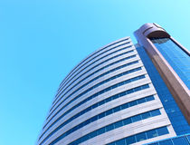 Uralsibbank building. Photo of a modern building of large bank on a background of the cloudless sky Stock Photography