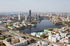Uralstad Ekaterinburg royalty-vrije stock afbeelding