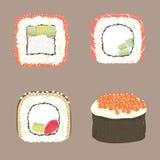 Uramaki dei sushi gunkan Immagini Stock Libere da Diritti