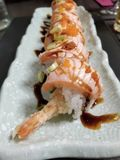 Uramaki am japanischen Restaurant stockbild