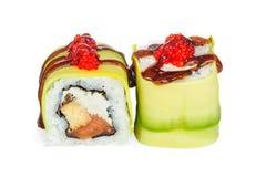 Free Uramaki Maki Sushi, Two Rolls On White Royalty Free Stock Photo - 71826505