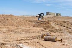 Uran Feld in Zentralasien Die Ausrüstung und die Mechanismen in r Stockfoto