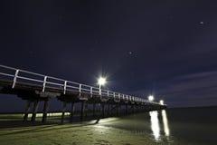 Urangan码头在晚上 免版税图库摄影