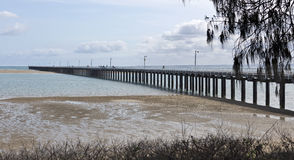 Urangan-Pier in Harvey Bay Stockfotos