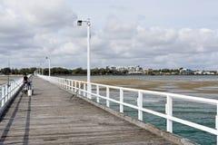 Urangan-Pier in Harvey Bay stockfotos