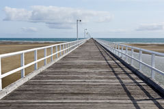 Urangan Pier in Harvey Bay. View of the historic 868 metres Urangan Pier in Hervey Bay, Queensland, Australia Stock Photography