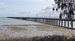 Urangan Pier in Harvey Bay. View of the historic 868 metres Urangan Pier in Hervey Bay, Queensland, Australia Stock Photos