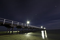 Urangan Pier at night. Near Hervey Bay, Queensland Royalty Free Stock Photography