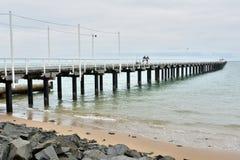 Urangan pir i Hervey Bay, Queensland arkivfoto