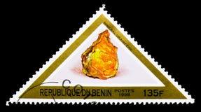 Uraninit、矿物和岩石serie,大约1998年 免版税图库摄影