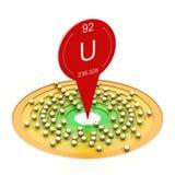 Uranium electron configuration Royalty Free Stock Image