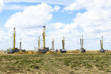 Uranium extraction. Uranium industry. Constructions and mechanis Royalty Free Stock Images