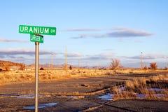 Uranium Laufwerk stockfotografie