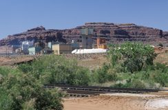 Uranium mine in Canyonland National Park in Moab, UT Stock Photos