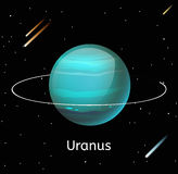 Uranus planet 3d vector illustration Royalty Free Stock Photography