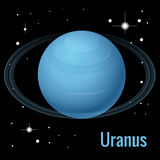 Uranus planet 3d vector illustration. High quality isometric solar system planets. Stock Images