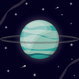 Uranus planet solar system Royalty Free Stock Photo