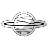 uranus planet solar system line Stock Photo