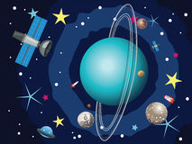 Uranus Planet in the Space Royalty Free Stock Image
